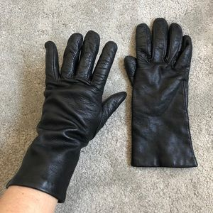 Saks Fifth Ave Soft Leather Cashmere Lined Gloves